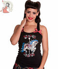 HELL BUNNY CAROUSEL VEST TOP t-shirt BLACK