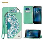 COOLPAD Catalyst 3622A Premium PU Leather Folio Wallet Diary Pouch DESIGN Case