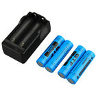 4pcs 18650 9800mAh Rechargeable Li-ion Battery & Charger For Flashlight LOT 2017