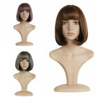Anime Ombre Bob Korean Wig Women 30 cm Curly Brown etc. 3Colors Cosplay Wigs+Cap