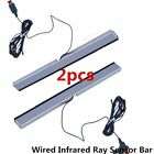 2X Wired Infrared Ray Sensor Bar for Nintendo Wii Remote Controller Pro GF
