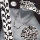 """2 HEAD DRAGON SCALE MENS NECKLACE CHAIN 925 STERLING SILVER 18 20 22 24 26 28"""""""