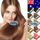 PU Seamless Tape in Skin Weft Remy Human Hair Extensions Straight 20/40/60Pcs AU