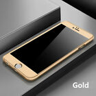 New Hybrid 360° Hard Thin Case + Tempered Glass Cover For iPhone 6s 6 7 Plus x