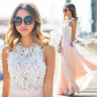 Womens Long Lace Bridesmaid Cocktail Dress Wedding Evening Party Ball Prom Gown