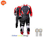 Motogp racing leather suit bike riding jacket matching trouser in red black