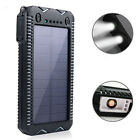 HOT USB Solar Power Bank 600000mAh Solar Battery Charger For Samsung LG Iphone
