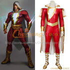 Captain Marvel Cosplay Shazam Costume Adult Jumpsuit Uniform Halloween Party New