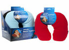 NECK CUSHION PILLOW/HEAD SUPPORT/TRAVEL/HOME/CAR/PLANE - FLEECE WITH SPRING CLIP