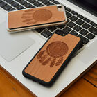 Dream catcher Natural Wood Grain Phone Case for iPhone 6 S 7 8 PLUS X