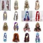 Long Black Blonde Brown Red Straight Curly Wavy Wig Hair Cosplay Lace Front Wigs