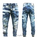 True Peviani rock n roll star denim jean, mens bar hip hop g straight fit combat