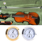 Golden/Silver Round Alloy Thermometer and Hygrometer for Guitar Violin Case Part