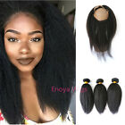 100% Virgin Brazilian Hair 360 Lace Band Frontal with Ita...