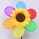 Windmill Wind Spinner Whirligig Children Multicolors Toys Classic Rainbow fm