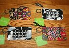 NWT Vera Bradley ZIP ID CASE gift card holder key ring wallet coin purse