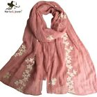 Elegant Design Pure Cotton Women Scarves embroidered long Shawls Outdoor Fashion