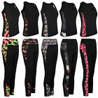 Women Active Wear Tight Top or Yoga Pants Gym Sports Vest Leggings Ladies S-XL