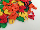 Bright Animal shaped buttons ** mixed colours & assorted sizes **