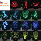 Bedroom 3D LED illusion Punisher Skull USB Color table Night Light Lamp gift $22.92 CAD