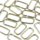 20mm 3/4 in. Chrome :: Narrow :: Rectangle Loop Metal Ring for Bag Making (M068)