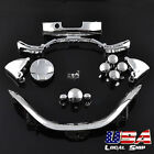 Chrome Silver Full Set Kit Buttons Trigger Bumper for Xbox 360 Controller Repair
