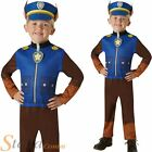Chase Paw Patrol Costume Boys Fancy Dress Book Day Police Dog Kids Childs Outfit