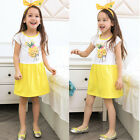 Summer Toddler Kids Baby Girl Princess Party Pageant Short Sleeve Casual Dresses