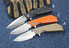 Knife D2 Blade DOC Folding Knife G10 Handle Knifes Hunting Tactical Camping EDC