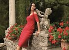 Michaela Louisa 8457 8458 red lace cold shoulder top & skirt mother of bride