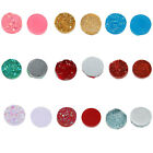 12mm 20pcs Mixed Colors Drusy Resin Dome Seals Cabochon Round DIY Jewelries
