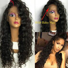 Glueless soft curly Front  lace wigs  Brazilian 100 Human  hair  baby hair Hot