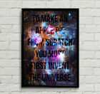 "Carl Sagan Cosmos ""To Make An Apple Pie From Scratch""Quote Poster Print Wall Art"