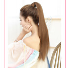 Silk straight Remy Hair ponytail hair Extension Clip IN  Human Extensions 80g