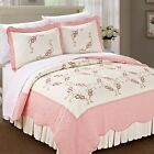 Serenta Prewashed Embroidery Classic Microfiber Cotton Filled Bedspread Quilt image