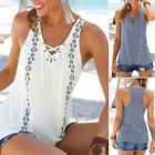 NEW Summer Women's Casual Sleeveless V-neck Bandage Modal Loose Top Shirt Blouse