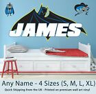 Childrens Name Wall Stickers Art Personalised Batman Logo for Boys Bedroom