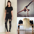 Gexy Womens High Waist Yoga Fitness Leggings Gym Stretch Sports Pants Trousers