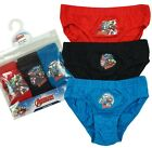 Boys PACK OF 3 Marvel Avengers Slip Briefs Underpants Cotton Pants 3 to 8 Years