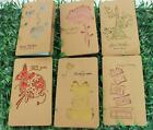 Foldable Kraft Paper Greeting Cards Vintage Nice Festival Birthday Blessing Card