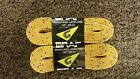 Graf Waxed Hockey Skate Laces Yellow 2-Pair Pack Multiple Sizes *NEW*