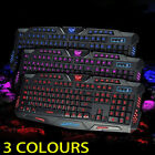 3 colors LED Illuminated Backlight USB Wired Gaming Keyboard WITH LED MOUSE