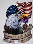 American Flag Eagle Purple Heart decal Camper RV mural graphic Sticker decals