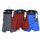 Jockey Men's Classic  Boxer Briefs 100% Cotton Underwear - 3 Pack Assorted