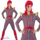 Mens Space Superstar Adult Fancy Dress Costume Bowie Rock Legend Aladdin Ziggy