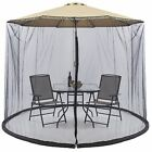 Outdoor Garden Umbrella Table Screen Parasol Mosquito Net Cover Bug Netting