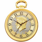 Men's Akribos XXIV CN012 Quartz Half Dollar Back Design Pocket Watch