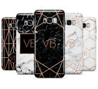PERSONALISED ROSEGOLD MARBLE/INITIALS MOBILE PHONE CASE FOR SAMSUNG GALAXY S8
