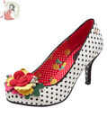 JOE BROWNS MERYL satin POLKA DOT spots COURT party HEELS occasion SHOES
