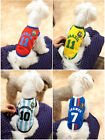 Pet Clothes World Cup Soccer Tee Shirt T-Shirt Puppy Dog Summer Clothes Poly